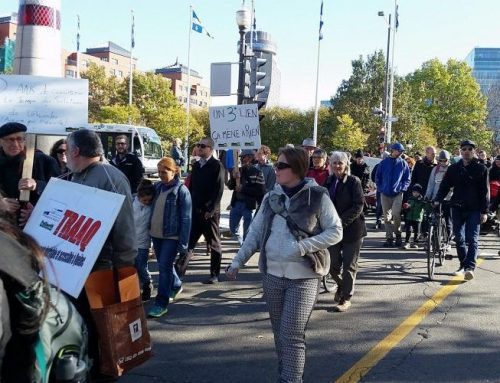 «Le transport en commun c'est capital» clament 150 protestataires