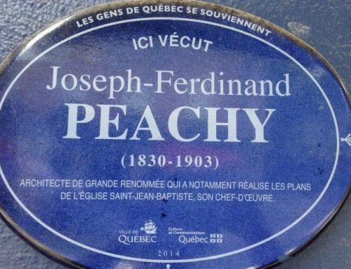 Ici vécut: Joseph-Ferdinand Peachy