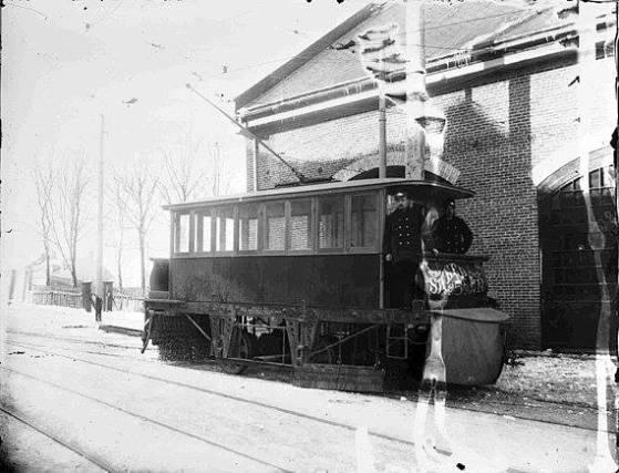 Garage de la quebec railway vers 1900 le bourdon du for Garage du faubourg le quesnoy