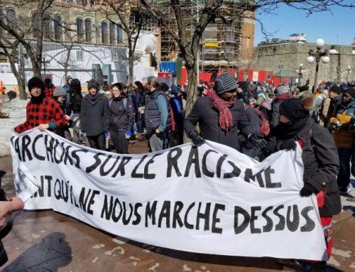 Manifestation familiale contre le racisme