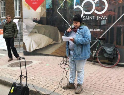 Boucherie Bégin: un rassemblement pour dénoncer l'inaction