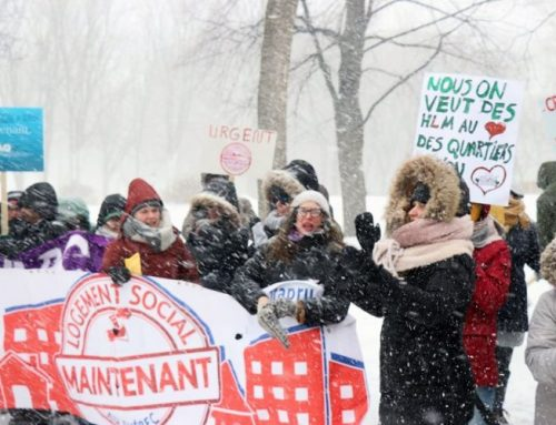 Tempête ou non, les gens se mobilisent pour défendre leurs droits