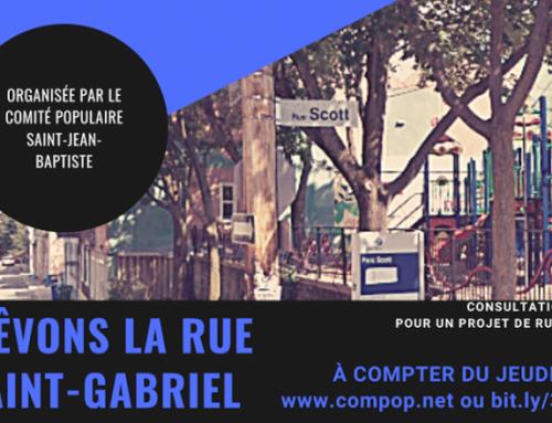 Consultation en ligne pour une rue Saint-Gabriel partagée